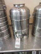 HERCULES 5 GAL. S.S. 1-SPIGOT THERMAL DRINK DISPENSER