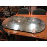 "48"" OVAL MIRROR TABLE DISPLAY"