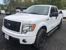 2014 FORD F150 SPORT STX, AT, AC, 50L - V8 ENGINE, 4X4, EXTENDED CAB, 6' BED W/ COVER, VIN #