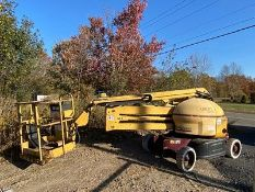 GROVE AMZ4GNE ARTICULATING BOOM LIFT, 40' MAX LIFT HEIGHT, 4X2, SOLID TIRES, S/N 254111 (595 HRS.)