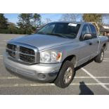 2007 DODGE RAM 1500 PICKUP TRUCK, 4X4, AT, AC, PW, PL, EXTENDED CAB, 6' BED, LEATHER INTERIOR, METAL