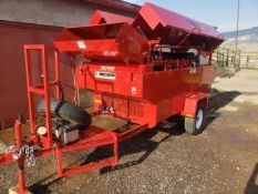 "Used-Kincade 36"" Belt Thrasher. Powered by 10 HP Gasoline Engine."