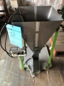 Stainless Steel Powder Feed Hopper on Carbon Steel Stand w/ FMC Control