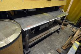 "Steel Welding Table On Caster (67""x48"")"