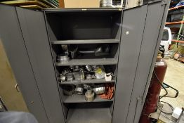 (2) Storage Cabinets & (6) Sections Of Shelving