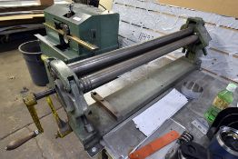 Pexto Model: 381D, 22 Ga. Table-Top Roll Bender