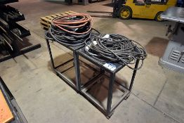 Lot of air hose and electrical extension cords