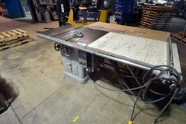 Delta table saw, s/n 40-7184
