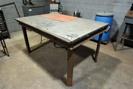 "Steel welding table, 50"" x 72"" x 1"""