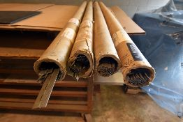 "Tubes of piano hinges, 72"" long"