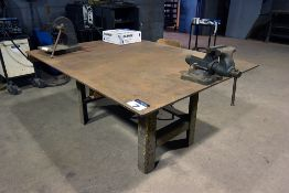 "Steel welding table, 48"" x 66"" x ½"", w/ 5"" vise"