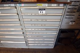 10 drawer cabinet containing assorted tooling