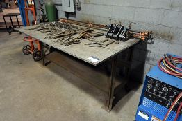 "Steel welding table, 48"" x 72"" x ¾"""
