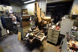 "Pratt & Whitney 6"" Vertical Shaper Model B M-1506, 40"" Table, 20"" Turntable w/3-Jaw Chuck"
