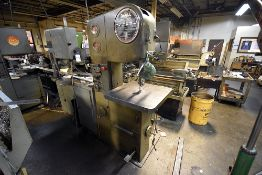 """Do-All 1612-1 Vertical Band Saw 16"""" Throat , s/n 148-63711"""