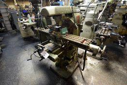 "Index Model 60 Plain Milling Machine, s/n 60-10341, 46"" Table, 6"" Turret Milling Vise"