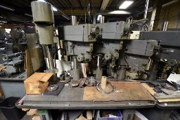 Clausing 4-Head Gang Drill Press Line Table
