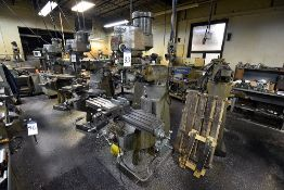 "Bridgeport Series I Vertical Milling Machine, 2HP Motor, 48"" Table (No Vise)"