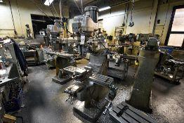 """Bridgeport Vertical Milling Machine s/n 12BR 192617, 2HP Motor, 42"""" Table, 6"""" Milling Vise"""