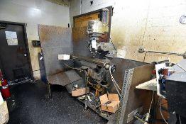 "Bridgeport Vertical Milling Machine s/n Not Visible, 2HP Motor, 48"" Table, Metal Machine Enclosure"