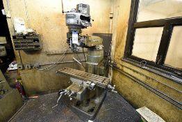 """Bridgeport Vertical Milling Machine s/n 12BR 163528, 42"""" Table, 1HP Motor"""