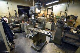 """Bridgeport Vertical Milling Machine s/n 12BR 192640, 2HP Motor, 42"""" Table"""