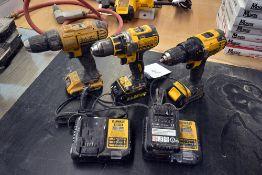 {LOT} Asstd Drills Dewalt DCD780, DCD790, DCD771 18V