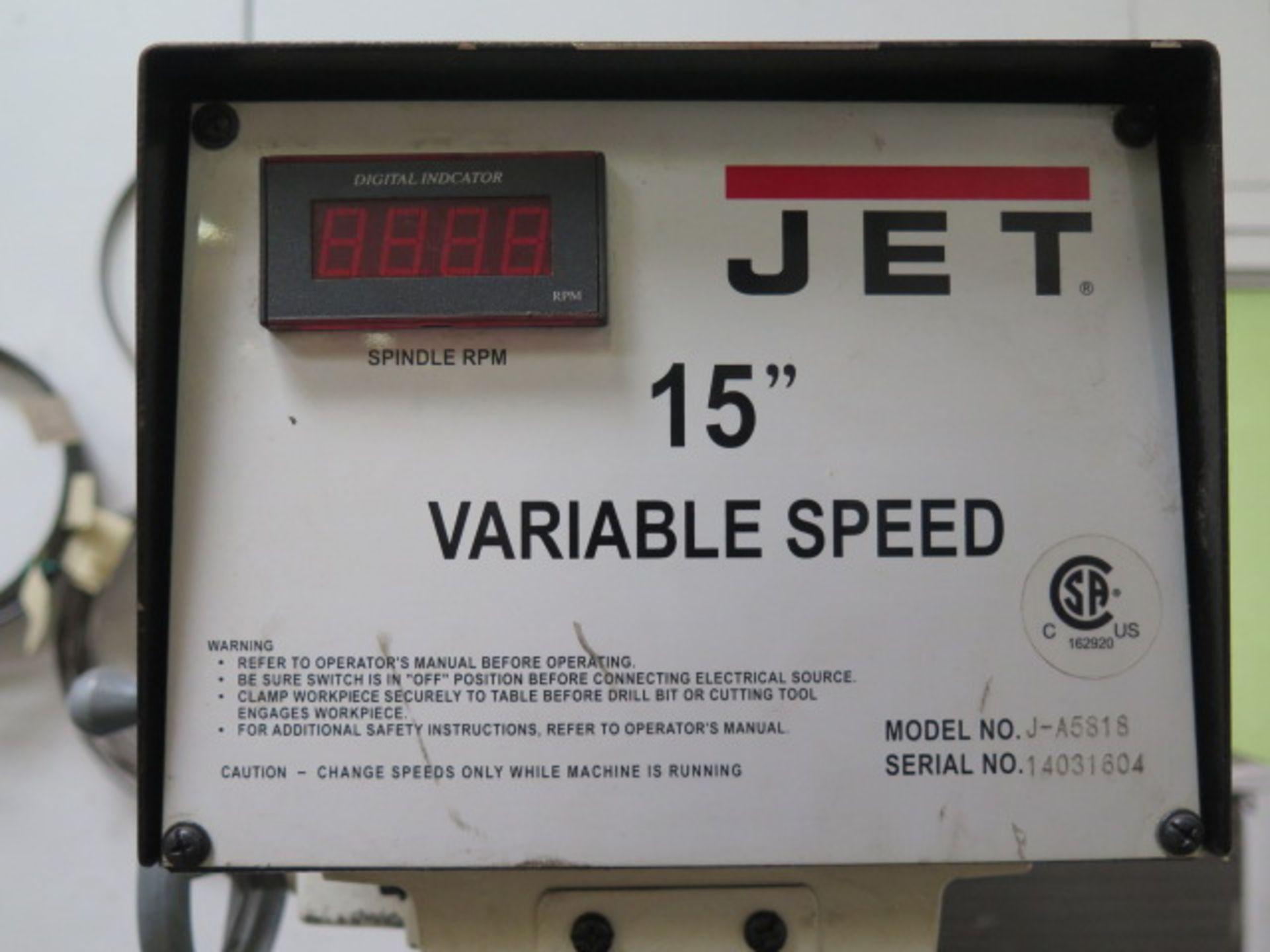 Lotto 41 - Jet mdl. J-A5818 Variable Speed Pedestal Drill Press s/n 14031604 w/ Dial Change RPM, Digital