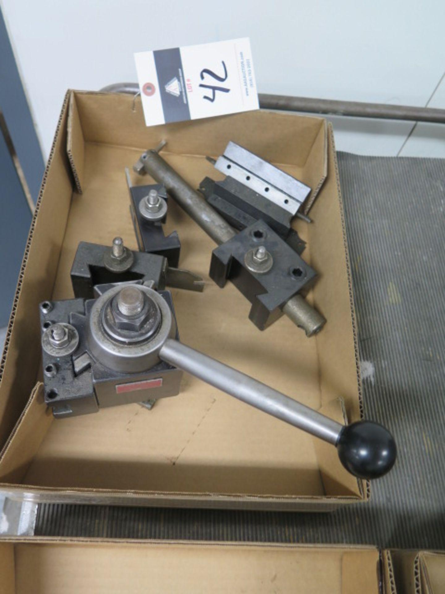 Lot 42 - Aloris Tool Post and Tool Holders