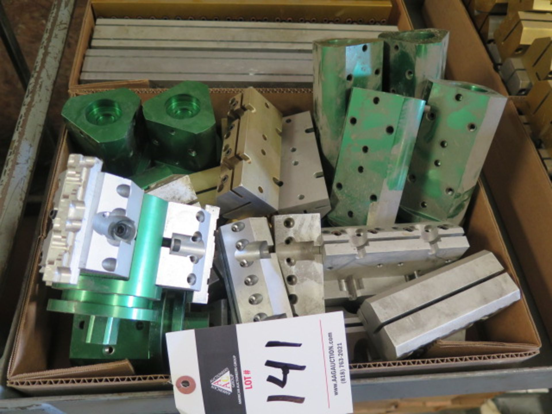 Lot 141 - Austin Vise Co Rotary Head Milling Fixtures (9) and Fixtures