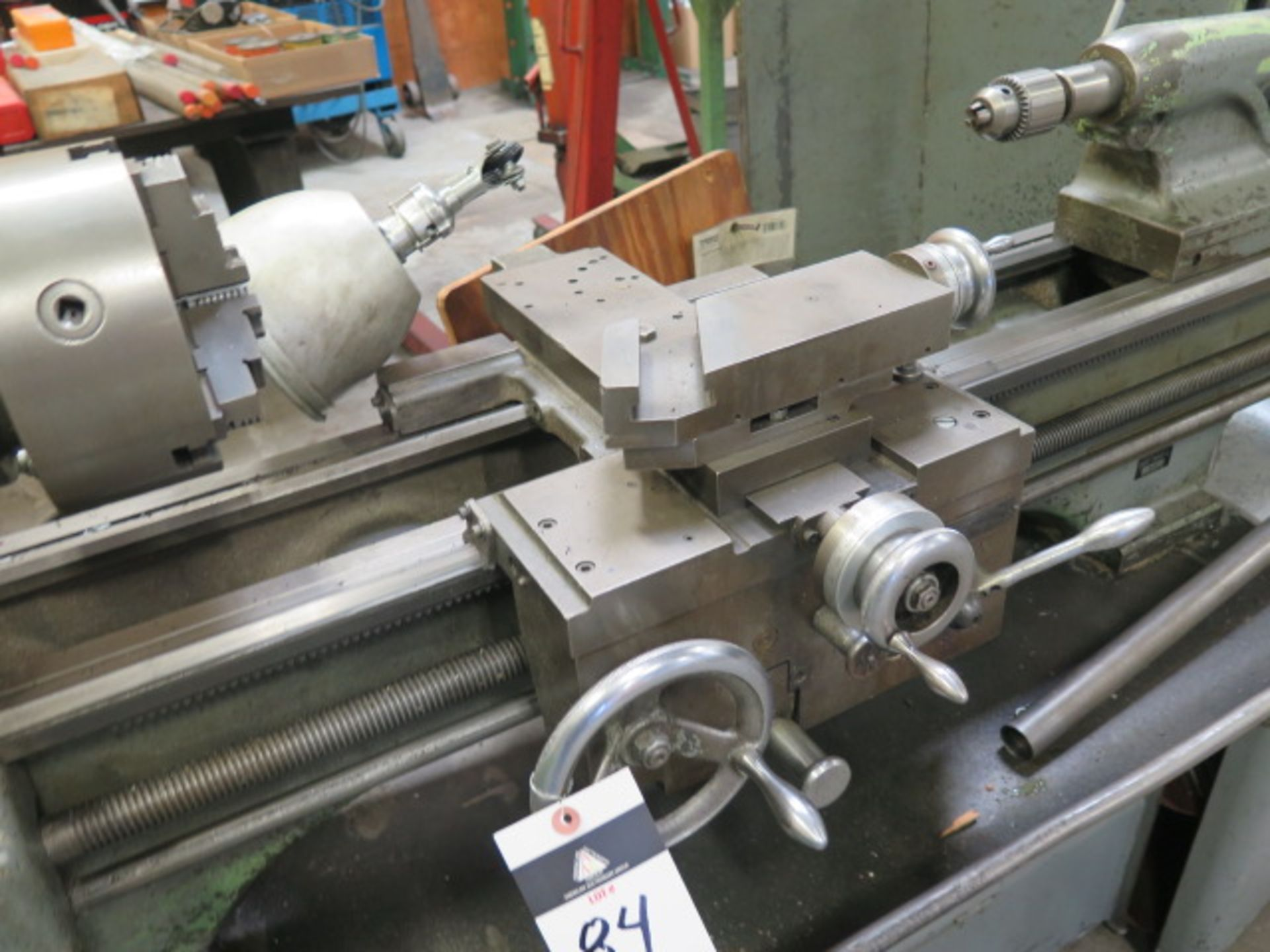 """Lot 84 - Clausing 15 15"""" x 42"""" Geared Head Lathe w/ 40-1800 RPM, Inch Threading, Tailstock 5C Collet Closer"""