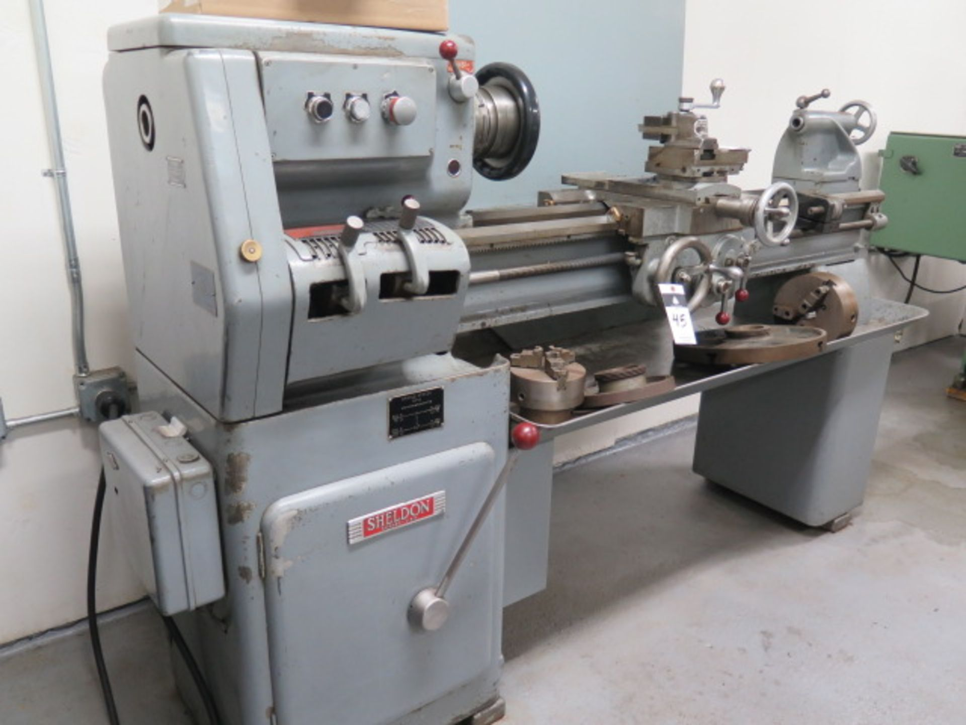 "Lot 45 - Sheldon GR-72-P 15"" x 42"" Lathe s/n GR-25883 w/ 45-1250 RPM, Inch Threading, Tailstock, 5C Speed"
