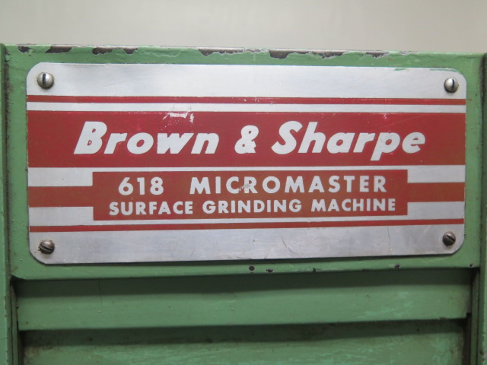 Lot 53 - Brown & Sharpe 618 Micromaster Automatic Surface Grinder w/ Electromagnetic Chuck, Coolant