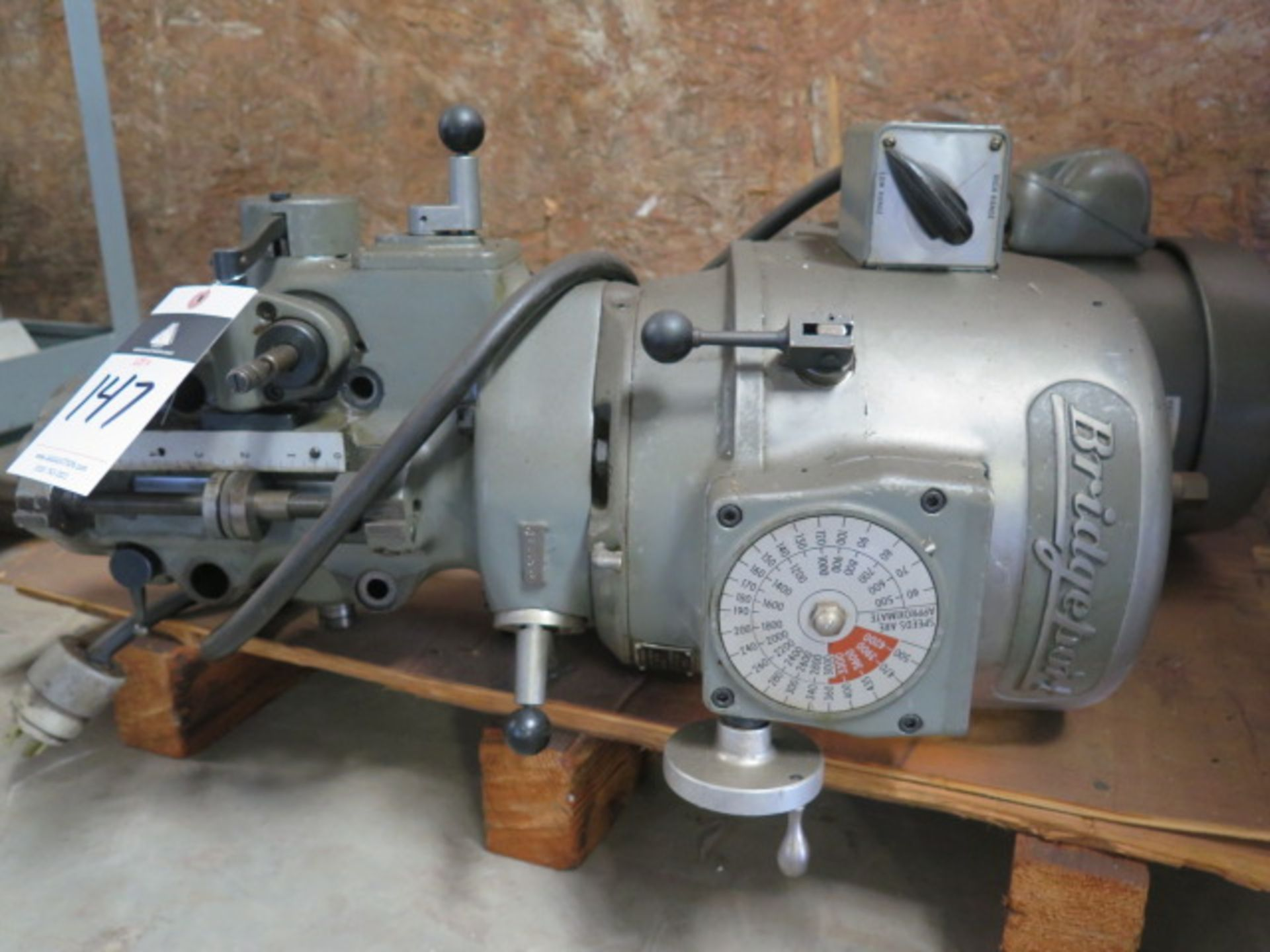 "Lot 147 - Bridgeport ""J"" Style Milling Head"