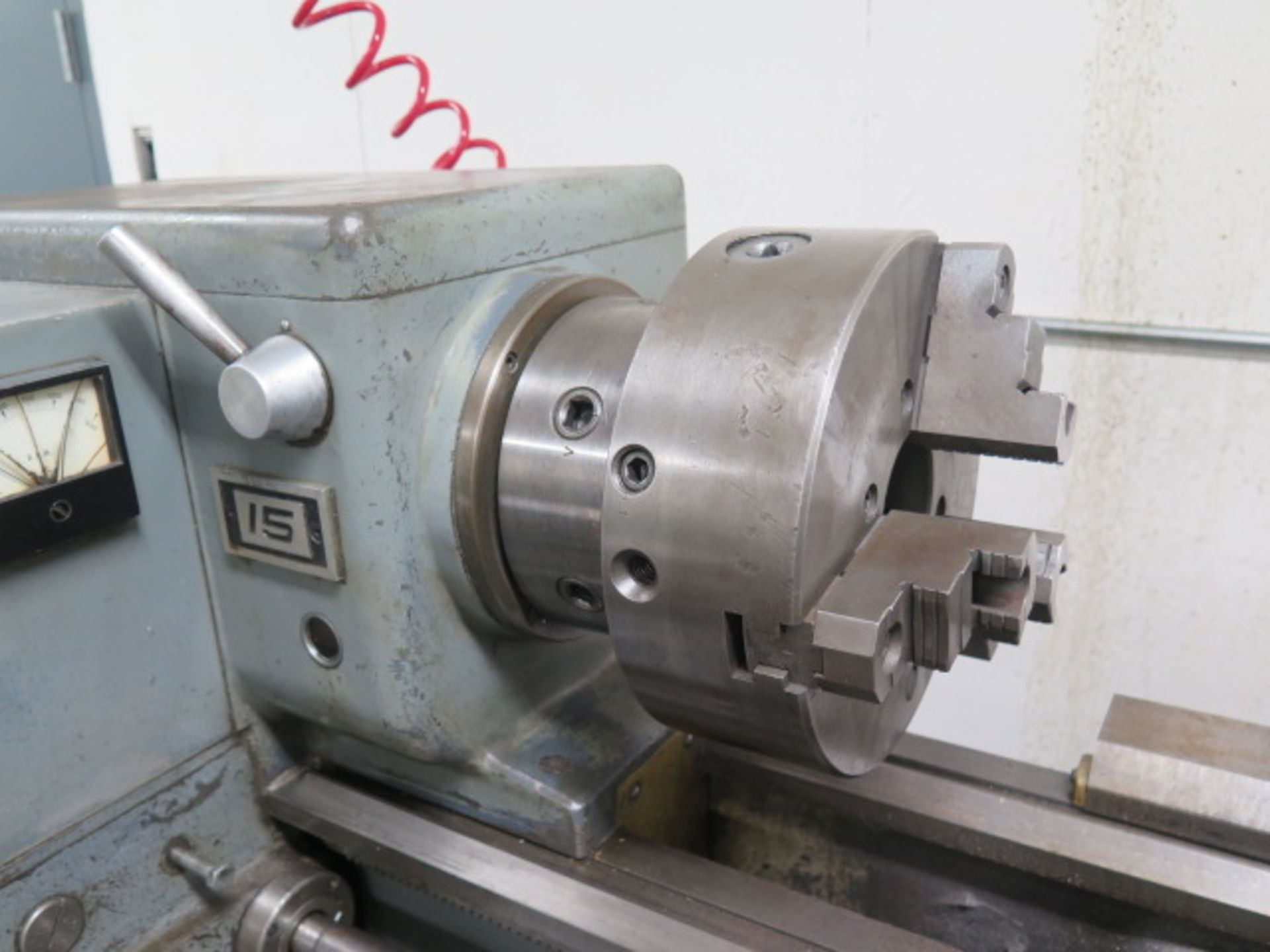 "Lot 41 - Sheldon 15"" x 42"" Geared Head Lathe s/n 30091 w/ 45-1250 RPM, Tailstock, Steady Rest, 10"" 3-Jaw"