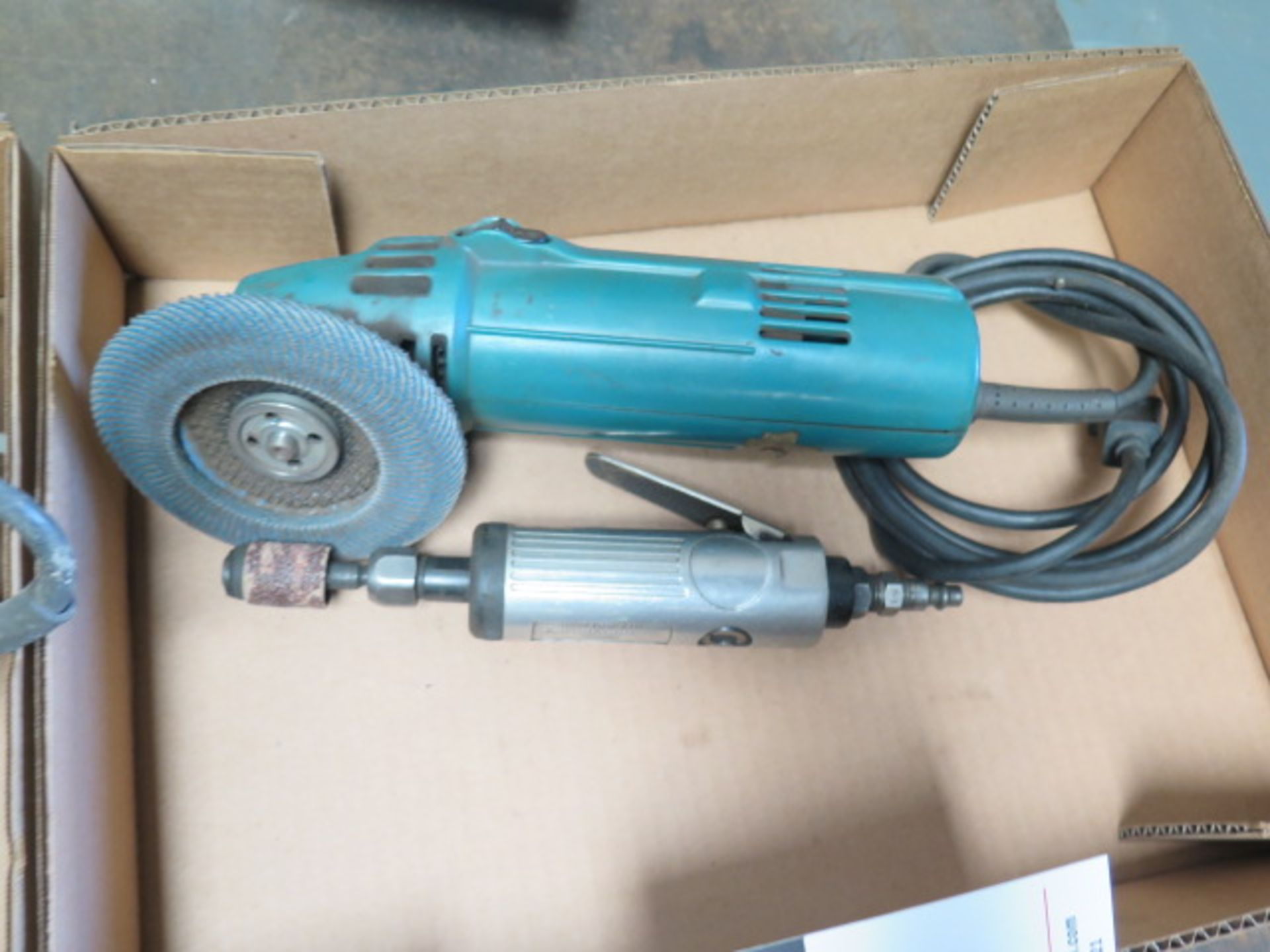 Lot 123 - Angle Grinder and Pneumatic Pin Grinder