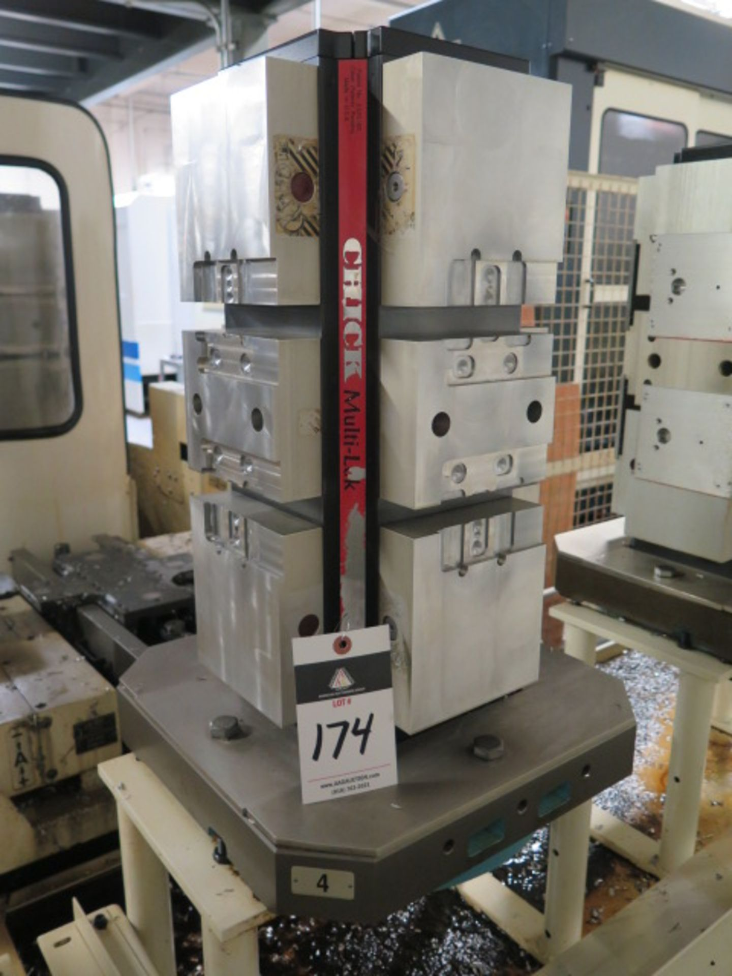 "Lot 174 - Chick 4-Position 6"" Cluster Tombstone w/ Makino Pallet"