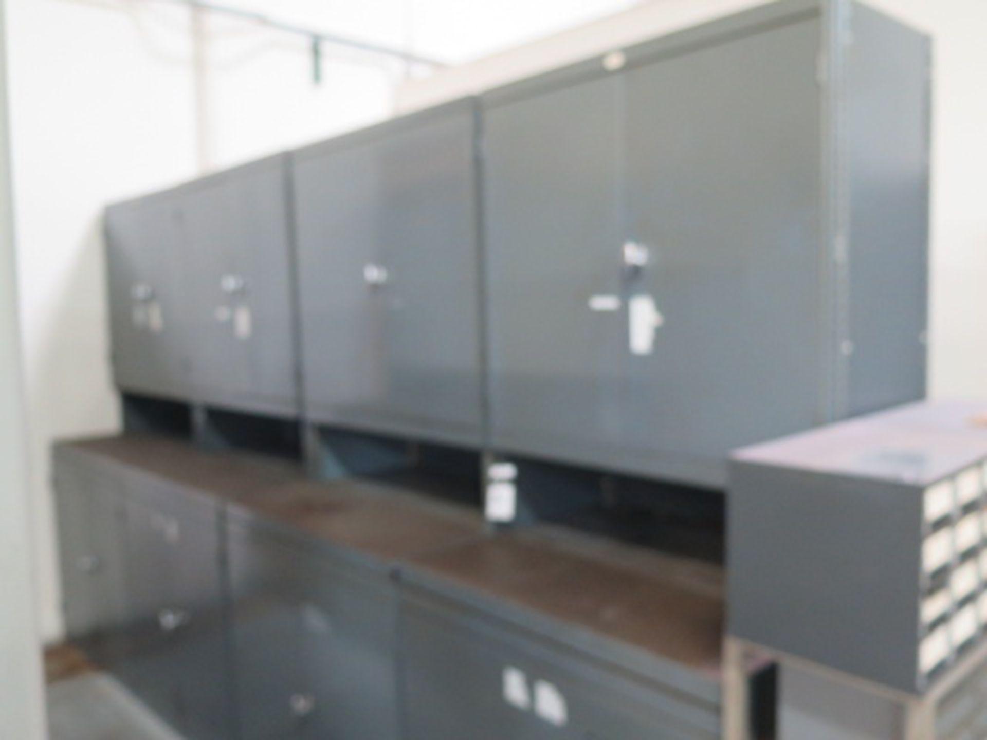 Lot 36 - Storage Cabinets (4) w/ Misc