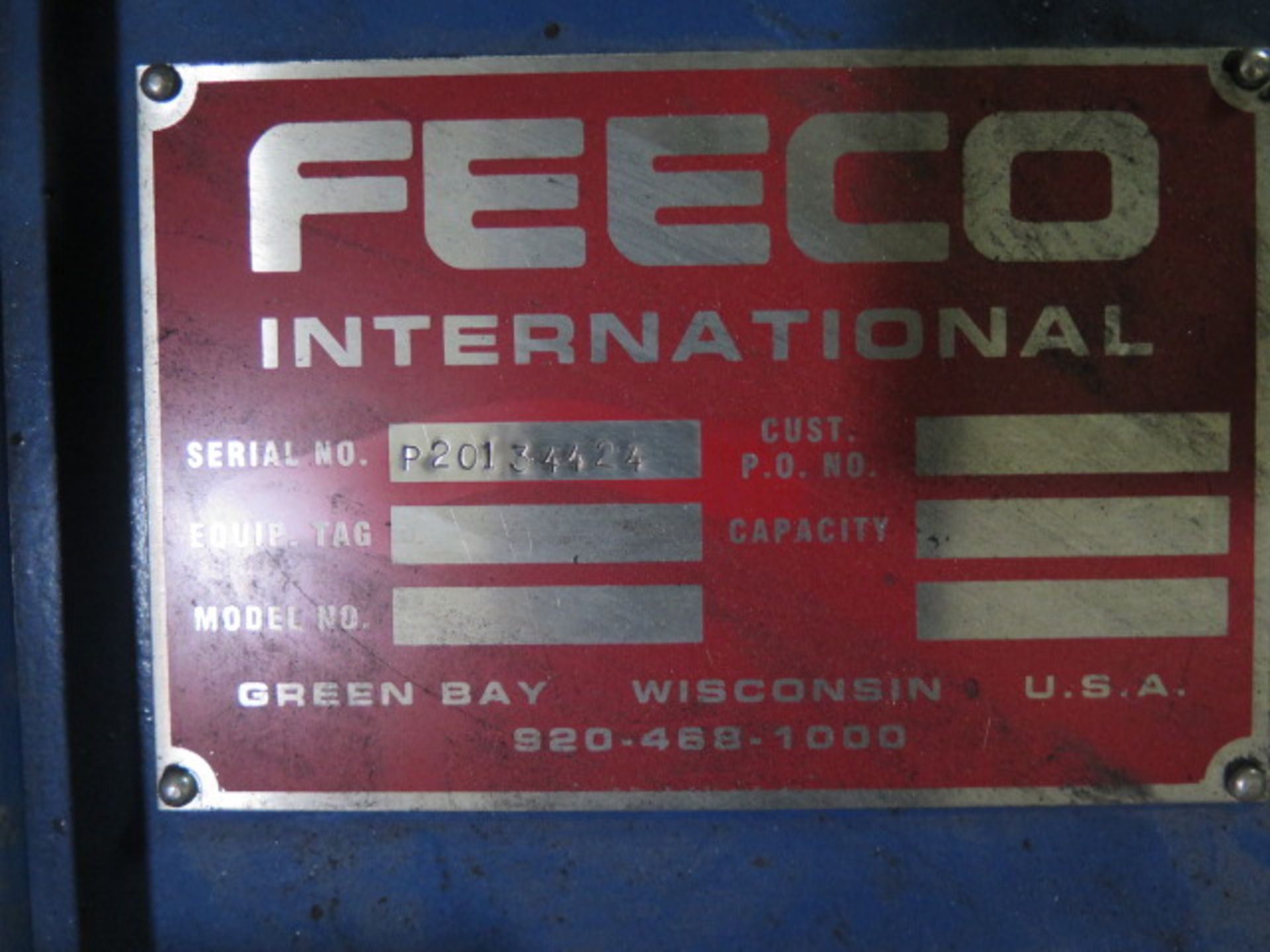 Lot 361 - Feeco International Pan Agglo-Miser (Pelletizer) s/n P20134424, SOLD AS IS AND W/ NO WARRANTY