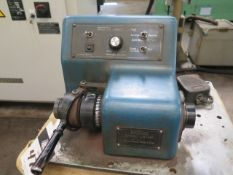"""Overbeck """"Twister Speed Lathe"""" w/ Variable Speeds, 5C Spindle, Foot Control (SOLD AS-IS NO"""