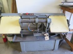 "Import 9"" Horizontal Band Saw w/ 4-Speeds, Manual Clamping, Work Stop, Coolant, SOLD AS IS"
