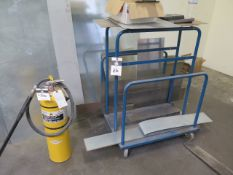 "Type ""D"" Combustable Metals Fire Extinguisher and Sheet Stock Cart"
