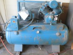 Kellog American 10Hp Horizontal Air Compressor w/ 2-Stage Pump, 120 Gallon Tank, SOLD AS IS