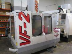 1998 Haas VF-2 4-Axis CNC Vertical Machining Center s/n 16681 w/ Haas Controls, 20-Station ATC,
