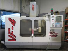 1997 Haas VF-4 5-Axis Capable CNC Vertical Machining Center s/n 16062 w/ Haas Controls, 20-Station