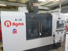 2016 Agma A-14 4-Axis CNC Vertical Machining Center s/n 16014002 w/ Fanuc Series 0i-MF Controls,