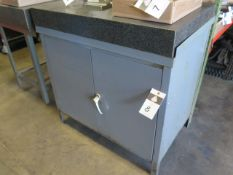 """24"""" x 36"""" x 4"""" Granite Surface Plate w/ Cabinet Base (SOLD AS-IS – NO WARRANTY)"""