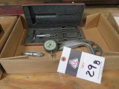 "Starrett 6"" Depth Mic, Federal Dial Snap Gage and NSK ID Mic (SOLD AS-IS - NO WARRANTY)"