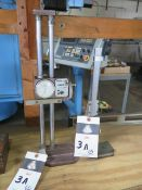 "Bestool 12"" Dial Height Gage and Mitutoyo 10"" Vernier Height Gage (SOLD AS-IS - NO WARRANTY)"