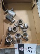Flex Collets and Collet Chuck Nuts (SOLD AS-IS - NO WARRANTY)